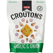 H-E-B Onion and Garlic Restaurant Style Premium Croutons