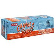 H-E-B Orange Burst 20 Calorie Pure Cane Sugar Soda 12 oz Cans