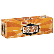 H-E-B Orange Burst Soda 12 oz Cans