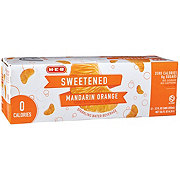 H-E-B Orange Sweetened Sparkling Water