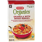 H-E-B Organic Granola with Mixed Berries