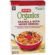 H-E-B Organic Granola With Mixed Berries