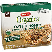 H-E-B Organic Oats & Honey Crunchy Granola Bars