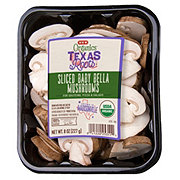 H-E-B Organic Sliced Baby Bella Mushrooms