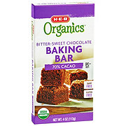 H-E-B Organics 70% Cacao Bitter-Sweet Chocolate Baking Bar