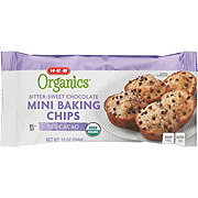 H-E-B Organics 70% Cacao Bittersweet Chocolate Mini Baking Chips