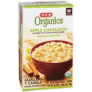 H-E-B Organics Apple Cinnamon Instant Oatmeal