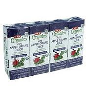 H-E-B Organics Apple Grape Juice 6.75 oz Boxes