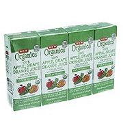 H-E-B Organics Apple Grape Orange Juice Box