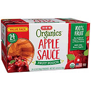 H-E-B Organics Apple Sauce Fruit Pouches Value Pack