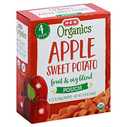 H-E-B Organics Apple Sweet Potato Fruit & Veg Blend Pouches