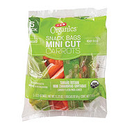 H-E-B Organics Baby Carrot Snack Bags, 4 pk