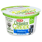 H-E-B Organics Blueberry Greek Yogurt