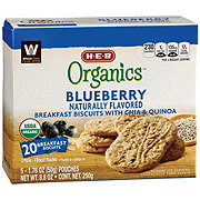 H-E-B Organics Blueberry with Chia & Quinoa Breakfast Biscuits