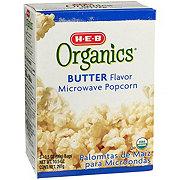 H-E-B Organics Butter Flavor Microwave Popcorn