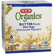 H-E-B Organics Butter Flavor Microwave Popcorn Mini Bags