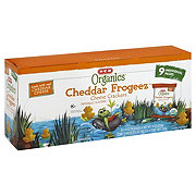 H-E-B Organics Cheddar Frogeez Cheese Crackers Multipack