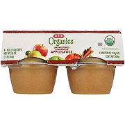 H-E-B Organics Cinnamon Applesauce Cups