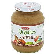 H-E-B Organics Cinnamon Applesauce Jar