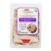 H-E-B Organics Cracked Pepper Turkey Breast Slices