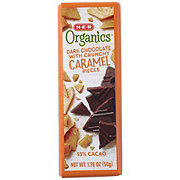 H-E-B Organics Dark Chocolate with Crunchy Caramel Pieces
