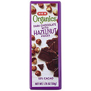 H-E-B Organics Dark Chocolate with Hazelnut Pieces