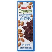 H-E-B Organics Dark Chocolate with Raw Almonds