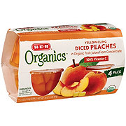 H-E-B Organics Diced Peaches Cup in Organic Pear Juice from Concentrate