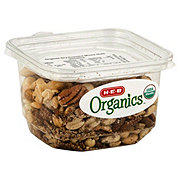 H-E-B Organics Dry Roasted Mix Nuts, Unsalted
