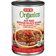 H-E-B Organics Fat Free Refried Black Beans with Jalapenos