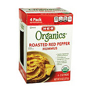 H-E-B Organics Hummus Roasted Red Pepper Pack