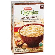 H-E-B Organics Maple Spice Instant Oatmeal