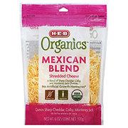 H-E-B Organics Mexican Blend Cheese, Shredded