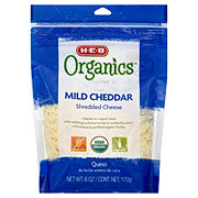 H-E-B Organics Mild Cheddar Shredded Cheese