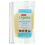 H-E-B Organics Monterey Jack Sliced Cheese