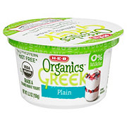 H-E-B Organics Non-Fat Plain Greek Yogurt