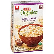 H-E-B Organics Oats & Flax Instant Oatmeal