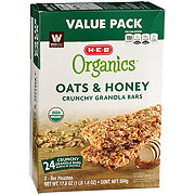 H-E-B Organics Oats & Honey Crunchy Granola Bars Value Pack