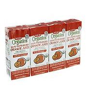 H-E-B Organics Orange Juice 6.75 oz Boxes