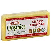 H-E-B Organics Sharp Cheddar Chunk