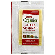 H-E-B Organics Sharp Cheddar Sliced Cheese