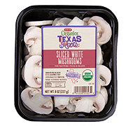 H-E-B Organics Sliced White Mushrooms