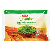 H-E-B Organics Steamable Chopped Spinach Leaves