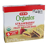 H-E-B Organics Strawberry Fruit & Grain Bars