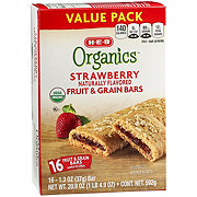 H-E-B Organics Strawberry Fruit & Grain Bars Value Pack