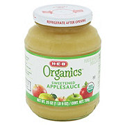 H-E-B Organics Sweetened Applesauce Jar