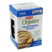 H-E-B Organics Traditional Hummus Portion Packs