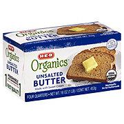 H-E-B Organics Unsalted Butter