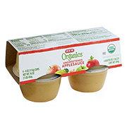 H-E-B Organics Unsweetened Apple Sauce Cups