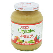 H-E-B Organics Unsweetened Apple Sauce Jar